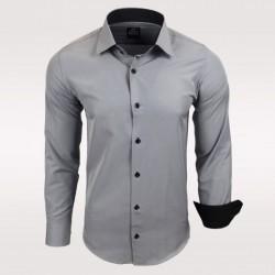 Pánská košile Slim Fit s dlouhým rukávem Rusty Neal šedá