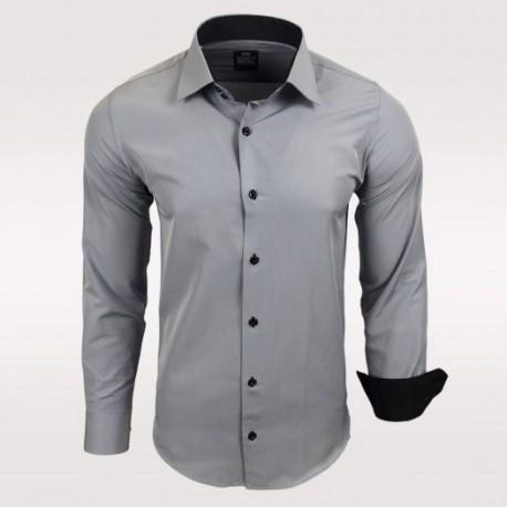 Pánská košile s dlouhým rukávem Rusty Neal šedá