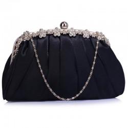 Dámské luxusní psaníčko Vintage černé 088