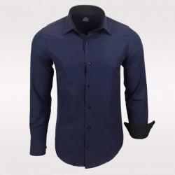 Pánská košile Slim Fit s dlouhým rukávem Rusty Neal tmavě modrá