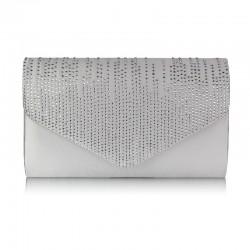 Dámské elegantní stříbrné psaníčko zdobené kamínky