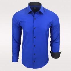 Pánská košile Slim Fit s dlouhým rukávem Rusty Neal modrá