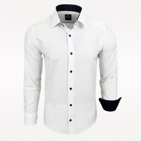 78daa6f5bacc Pánská košile Slim Fit s dlouhým rukávem Rusty Neal bílá