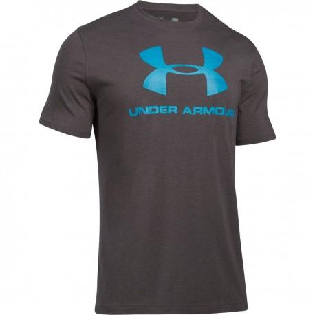 Pánské tričko Under Armour CC Sportstyle Logo, Velikost XXL, Barva Tmavě šedá Under Armour 1257615-019 190510254557