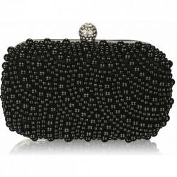 Dámské luxusní zdobené psaníčko černé