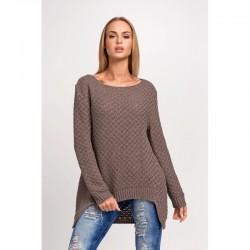 Dámský svetr s dlouhým rukávem kapučínový