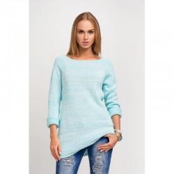 Dámský svetr s dlouhým rukávem mentolový
