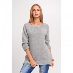 Dámský svetr s dlouhým rukávem šedý