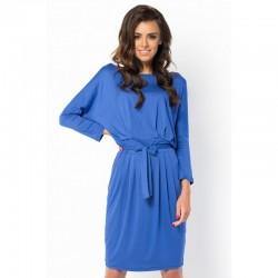 Elegantní šaty s 3/4 rukávem modré