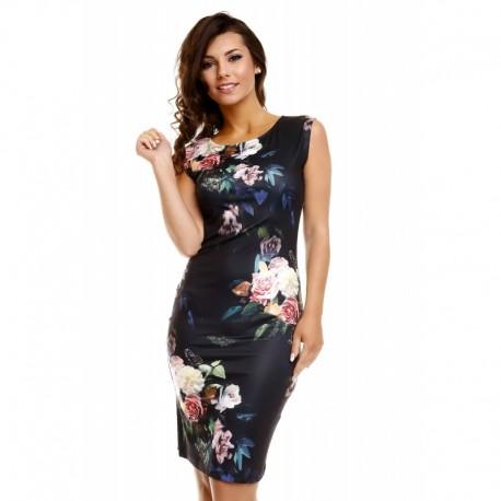 Dámské šaty Samantha černé s květy