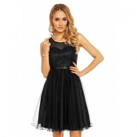Dámské společenské šaty bez rukávů CATHERINE černé ef94caead3