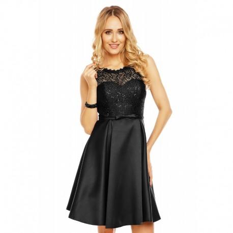 Dámské společenské šaty bez rukávů ISABELLE černé 330cf6fa4a