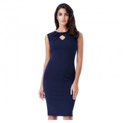 Dámské pouzdrové šaty Naomi tmavě modré