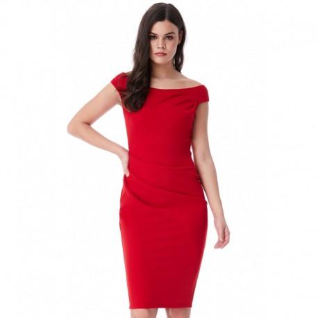 Dámské pouzdrové šaty Robyn červené 0baed2638e