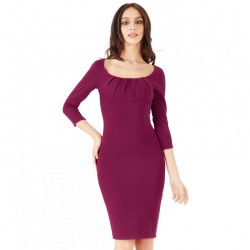 Dámské pouzdrové šaty Lily s 3/4 rukávem