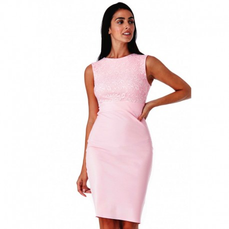 49582750e23 Dámské šaty bez rukávu Olivia růžové