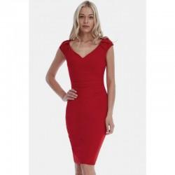 Dámské šaty CityGoddess Luisa červené