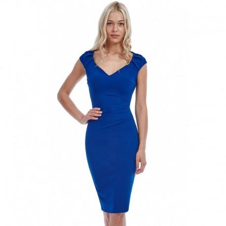Dámské šaty CityGoddess Luisa modré