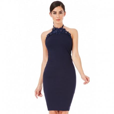 Dámské šaty bez rukávu Claire tmavě modré, Velikost 36, Barva Tmavě modrá CityGoddess DR1089A