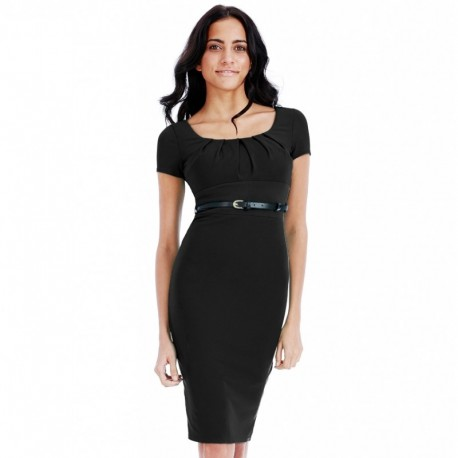 Dámské šaty Shannon černé, Velikost 38, Barva Černá CityGoddess DR765C