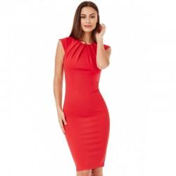 Dámské pouzdrové šaty Helen červené