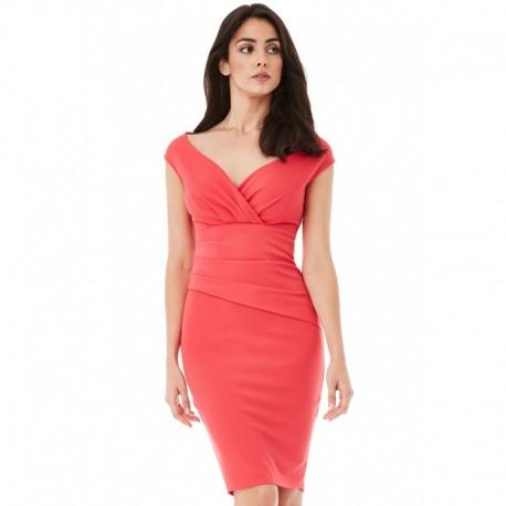 Dámské šaty CityGoddess Amy korálové