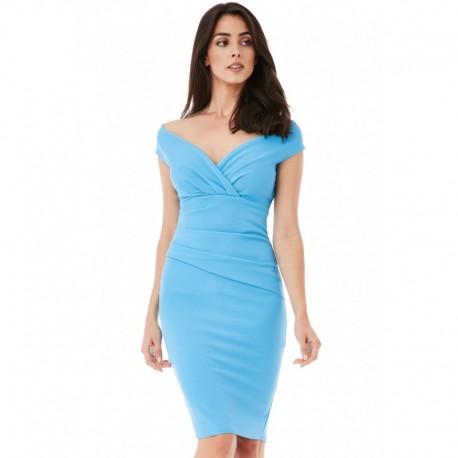 Dámské šaty CityGoddess Amy tyrkysové