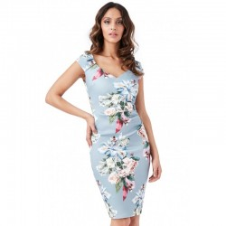 Dámské šaty CityGoddess květinové Chloe šedé