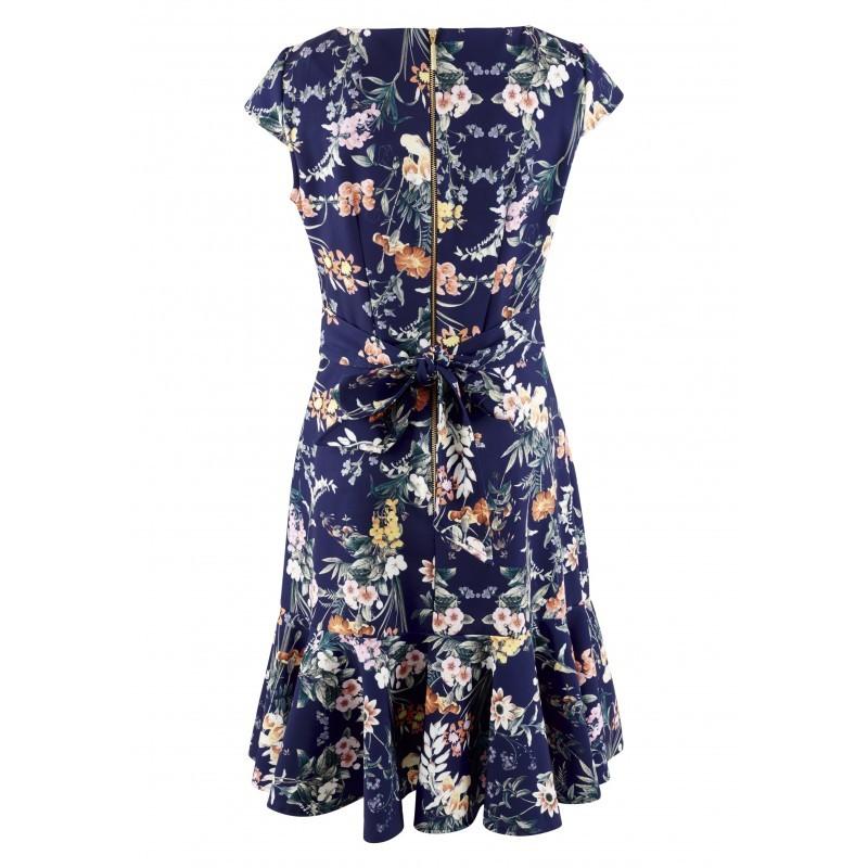Dámské modré šaty s květy Closet London d0a05673377