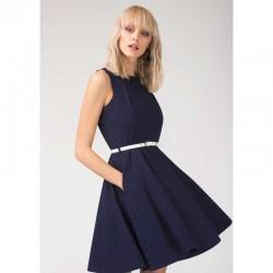 Dámské šaty Closet tmavě modré s páskem