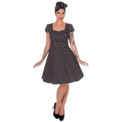 Dámské retro šaty Dolly and Dotty Claudia černé