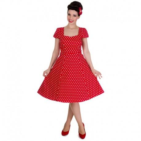 Dámské retro šaty Dolly and Dotty Claudia červené