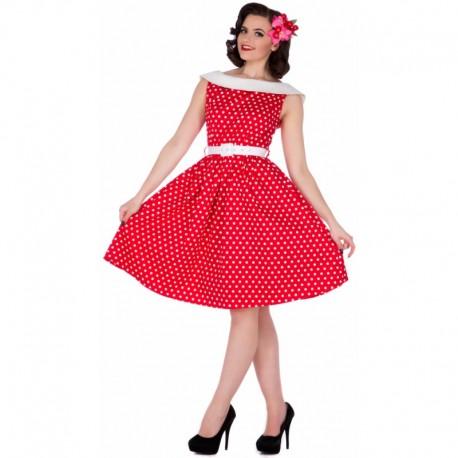 Dámské retro šaty Dolly and Dotty Sassy červené