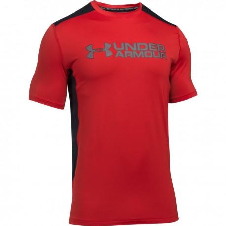 Pánské tričko Under Armour Raid Graphic SS, Velikost XL, Barva Červená Under Armour 1292648-600 190496125599