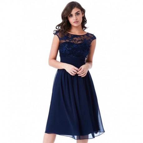 Krásné plesové a společenské šaty Molly tmavě modré 7067c97513d