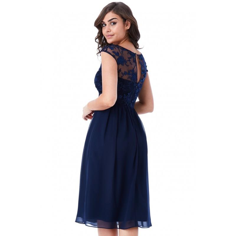 72bb2ebcc8a8 Krásné plesové a společenské šaty Molly tmavě modré