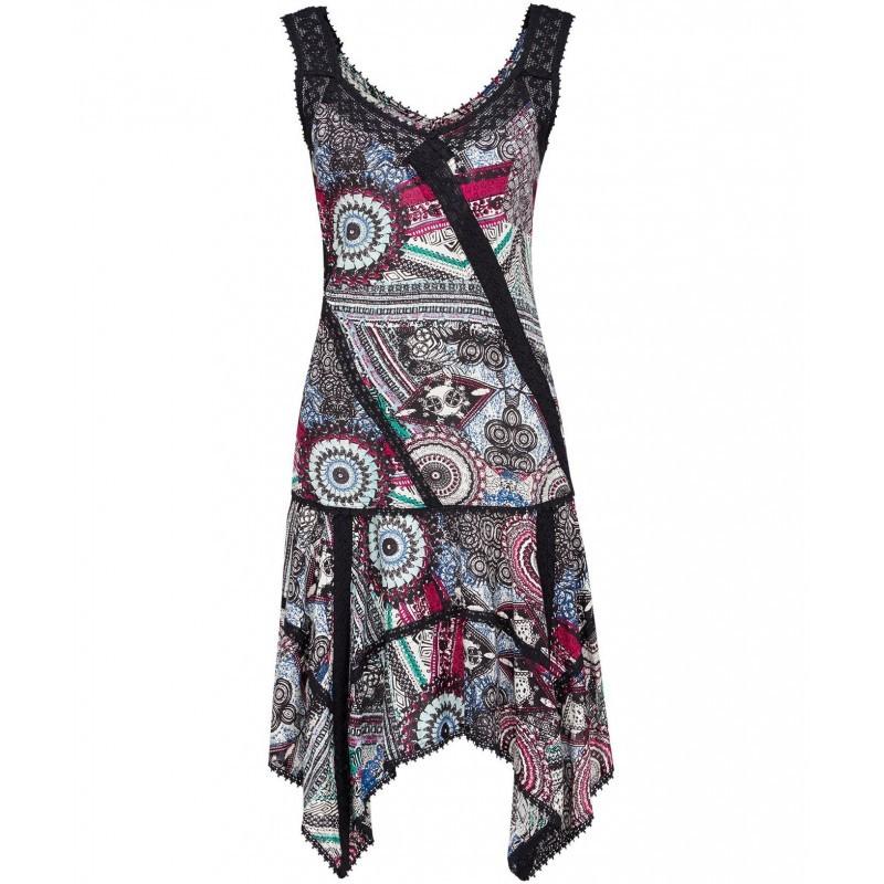 Luxusní dámské letní vzorované šaty s krajkou 842510eac1