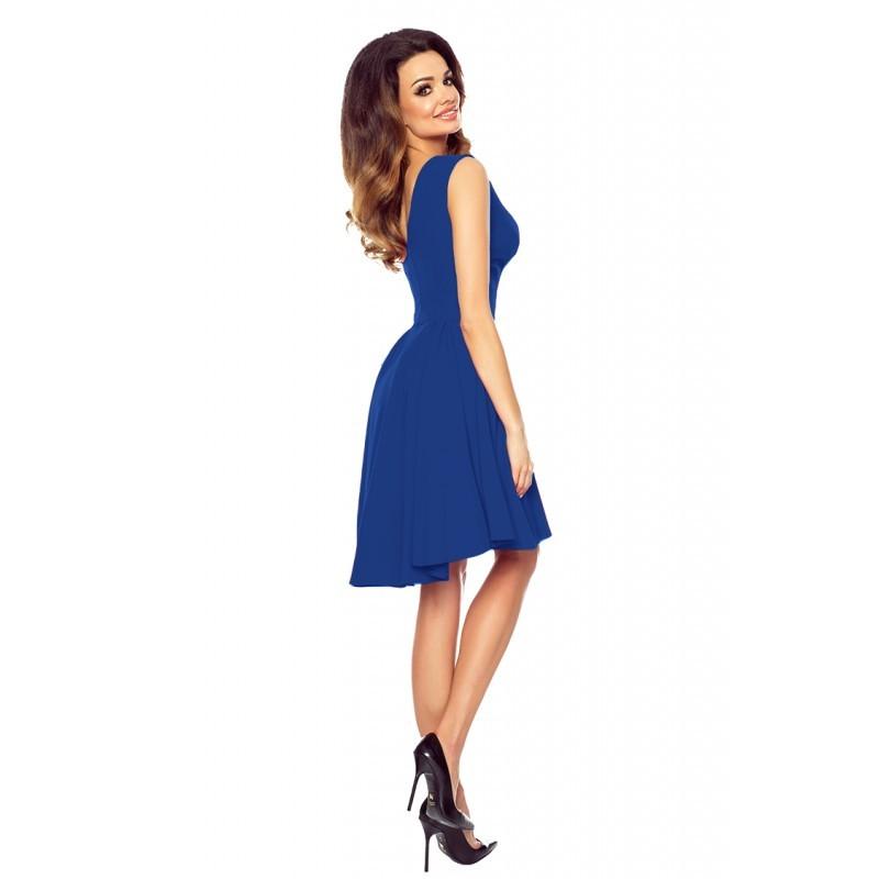1d0deae6034 Luxusní dámské šaty s asymetrickou sukní modré 1552