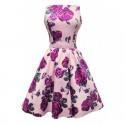 Dámské retro šaty Lady Vintage Violet Rose