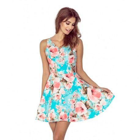 Dámské elegantní květinové šaty FLORALS bez rukávu