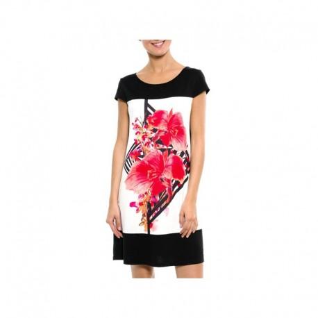 Dámské vzorované šaty s krátkým rukávem IRATAUA
