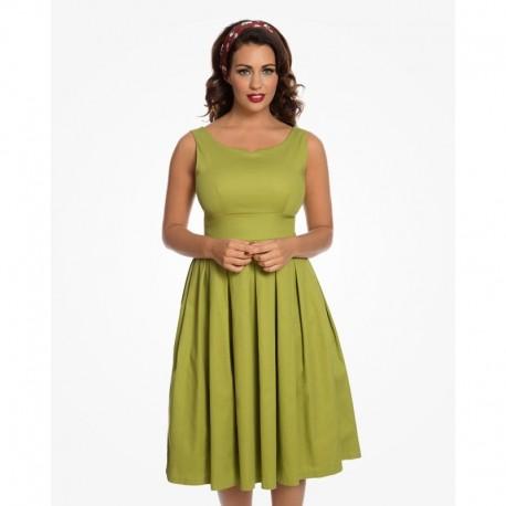 Dámské retro šaty Felicia Olive Green 9a91e99ba0