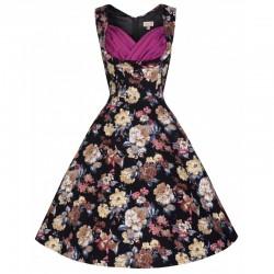 Dámské retro šaty Lindy Bop Ophelia Classical Bloom