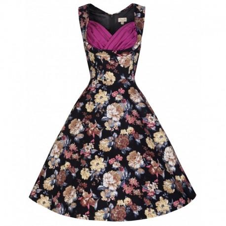 Dámské retro šaty Lindy Bop Ophelia Classical Bloom, Velikost 38, Barva Barevná Lindy Bop T8506875