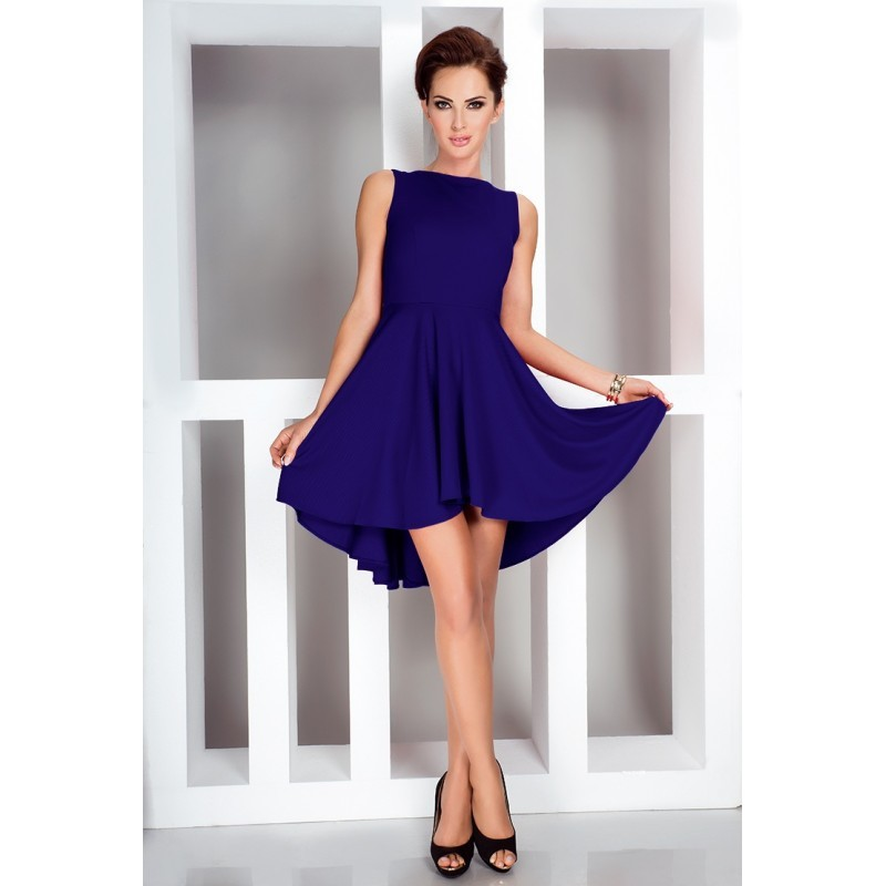 Dámské asymetrické šaty Lacosta - Exclusive modré 662f40dec6