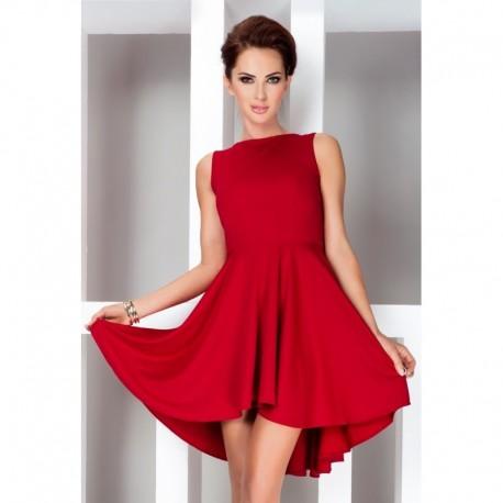 51e6b4c84335 Dámské asymetrické šaty Lacosta - Exclusive bez rukávu červené