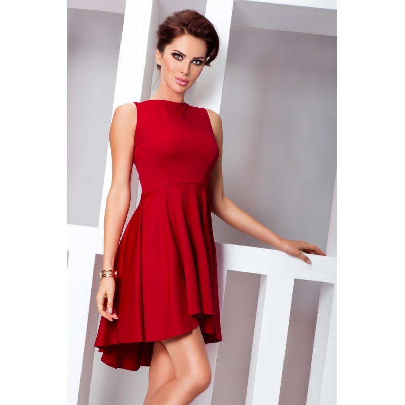 5fa24377982a ... Dámské asymetrické šaty Lacosta - Exclusive bez rukávu červené ...