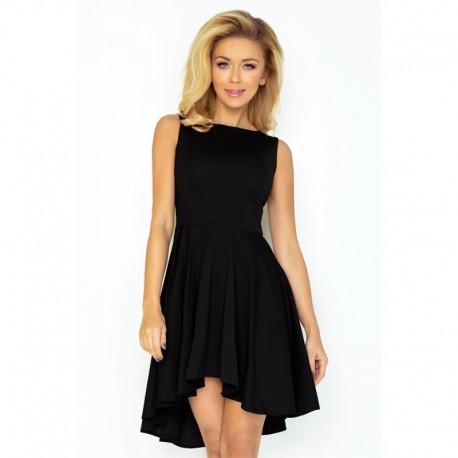 Dámské asymetrické šaty Exclusive bez rukávu černé