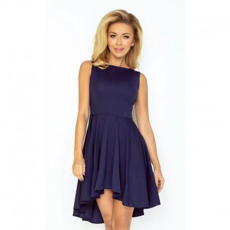 aa3692f72b9b Dámské asymetrické šaty Exclusive bez rukávu tmavě modré
