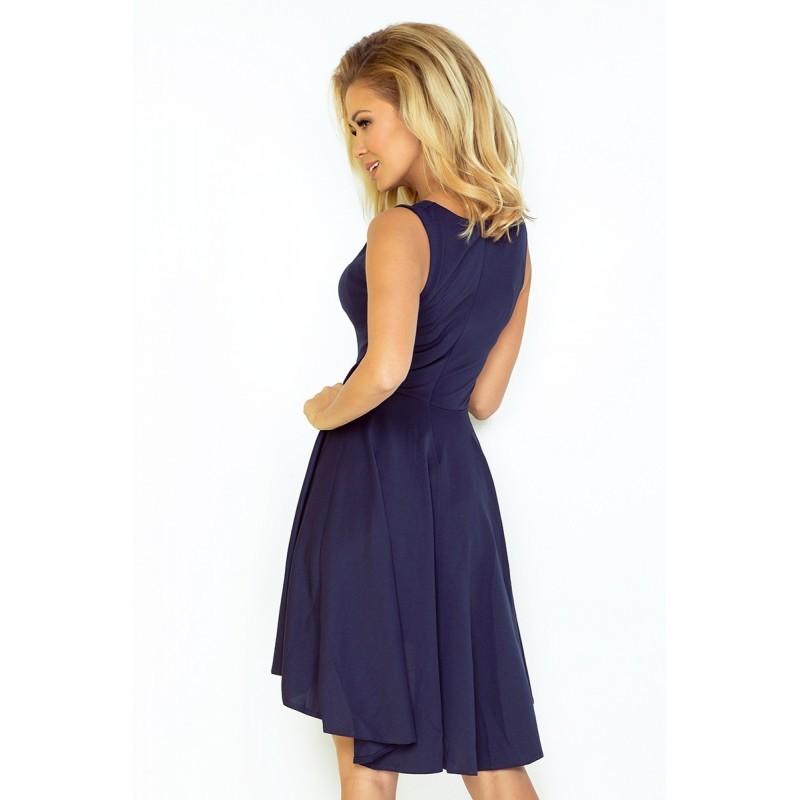 Dámské asymetrické šaty Exclusive bez rukávu tmavě modré af232391b3